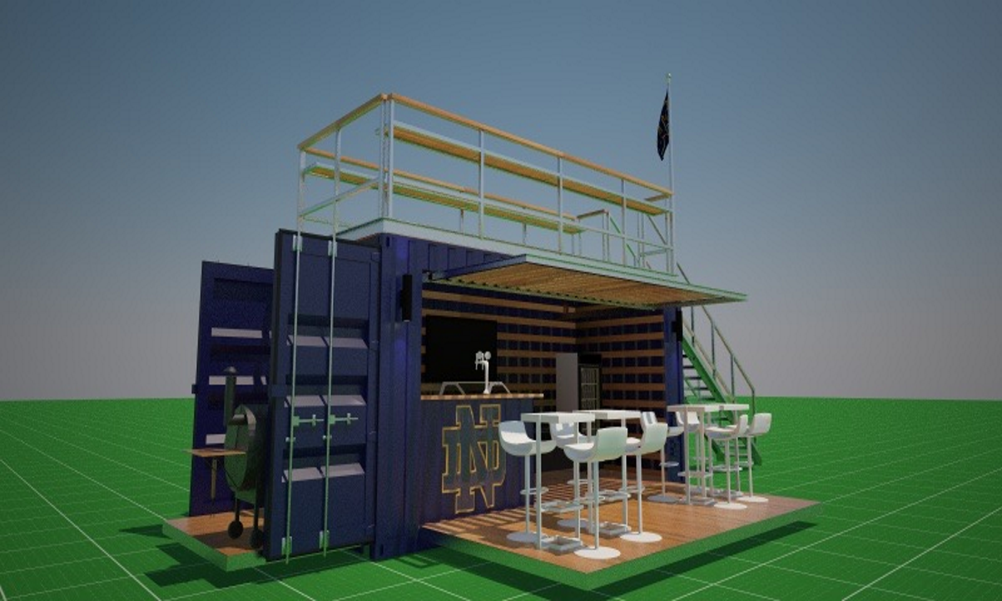 Notre Dame Pop Up Container Tailgater