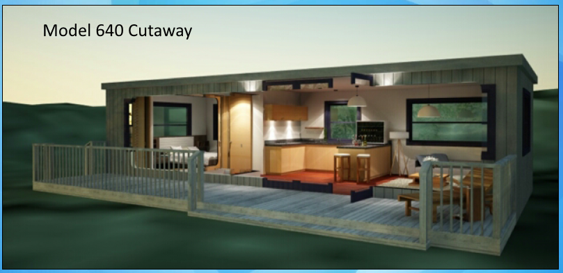 Model 640 Container Home Cutaway