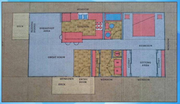 Nexus Container Home 760sf Floor Plan