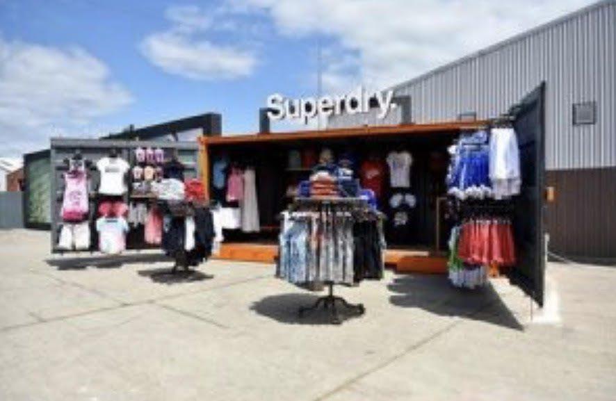 Pop Up Retail Store w/ Swing Door